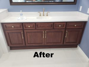 After image of Bathroom cabinet Refacing