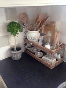 Designating cabinet corners for organizational purposes