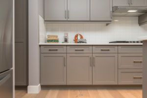 Process of refacing cabinets