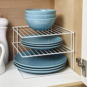 Shelf Risers for organizing plates